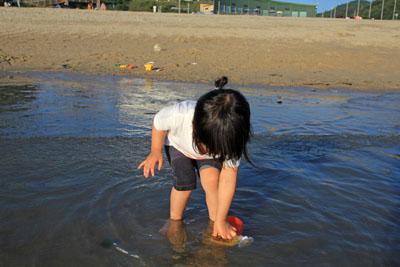 風早長浜海岸海遊び