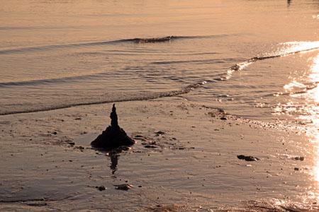 風早長浜海岸の夕方