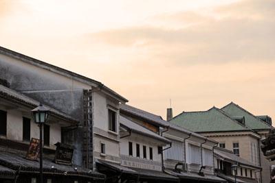 夕方の倉敷美観地区