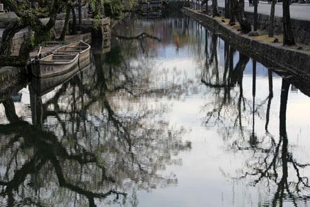 倉敷美観地区を流れる倉敷川