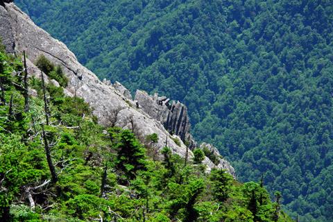 石鎚山大砲岩