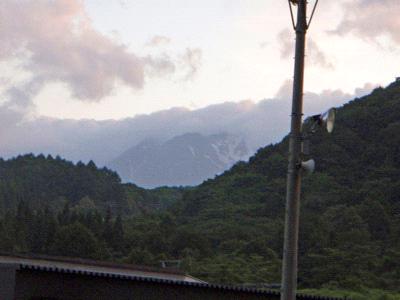 白馬アルプスホテルからの白馬の眺め