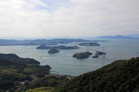 亀老山展望公園からの来島海峡