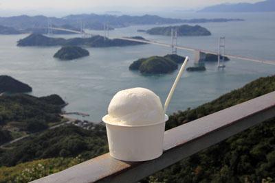 亀老山展望公園の玉藻塩アイス
