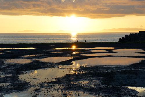 夕方の五色姫海浜公園