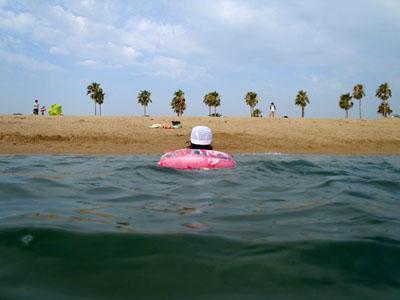 五色姫海浜公園海水浴子連れ