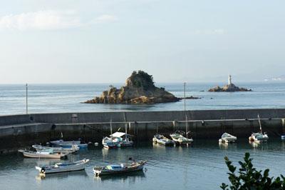 民宿名駒客室からの海の眺め