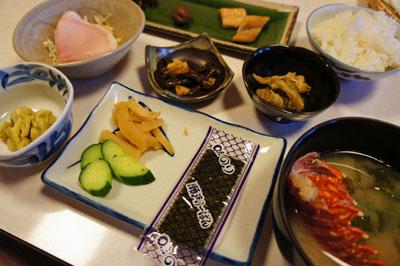 民宿名駒朝食