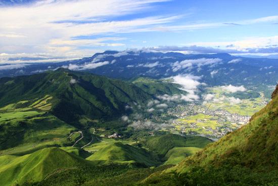 由布岳からの眺め