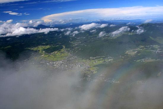 雲の上の由布岳山頂