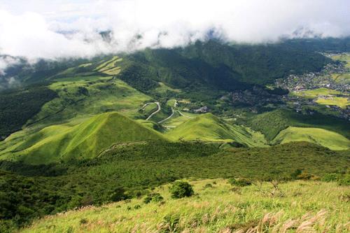 由布岳マタエからの風景