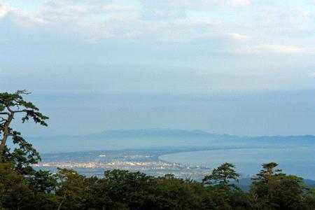 大山寺付近からの弓ヶ浜