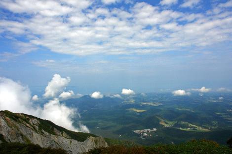 大山頂上からの風景