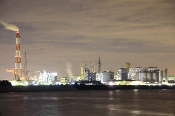 四日市臨海工業地帯夜景