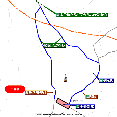 千畳敷カール地図