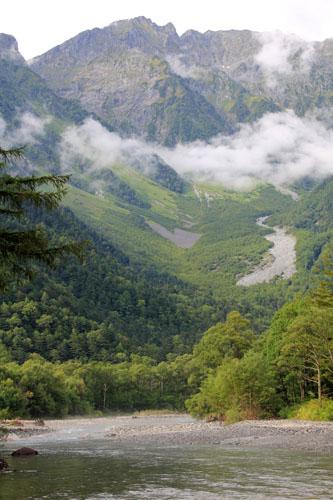 梓川と奥穂高岳