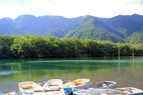 大正池のボート