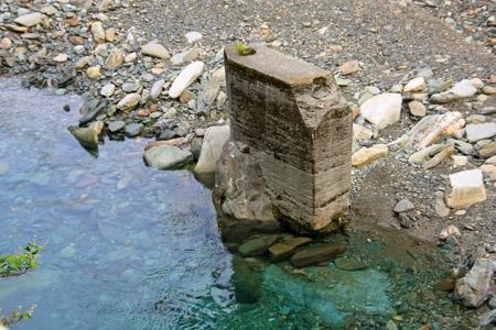 筏津の銅山川