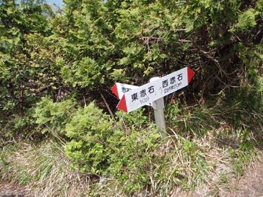 東赤石山道標