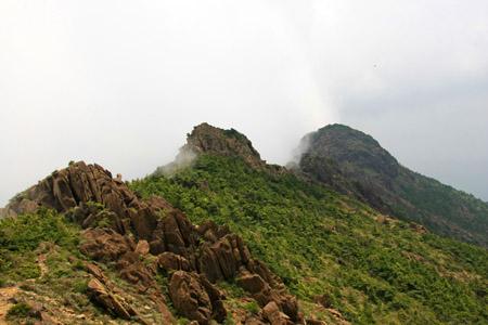 赤石山稜線
