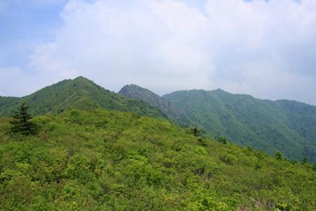 物住頭と前赤石山