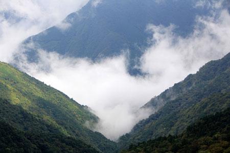 石鎚山の雲