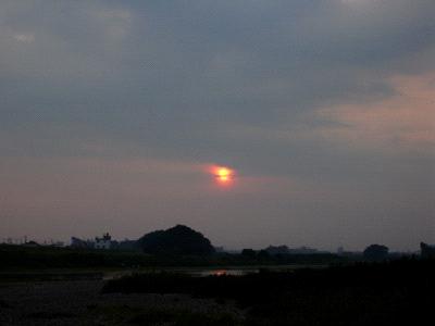 重信川の夕景