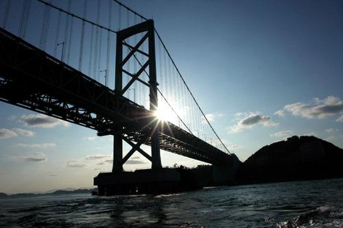 見上げる大鳴門橋