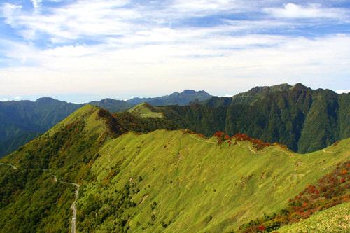 紅葉の伊予富士稜線と瓶ヶ森林道
