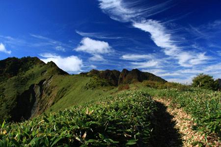 桑瀬峠からの伊予富士への稜線