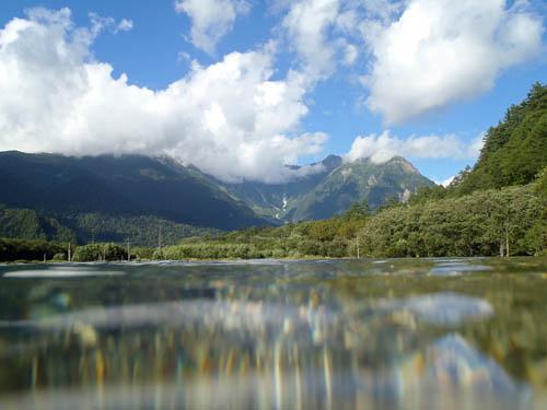 大正池と穂高