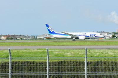 松山空港離陸
