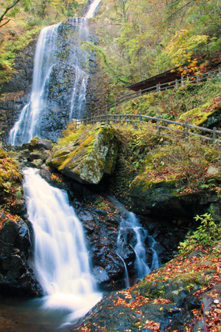 秋の白猪の滝