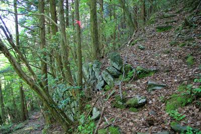 第二通洞への登山道