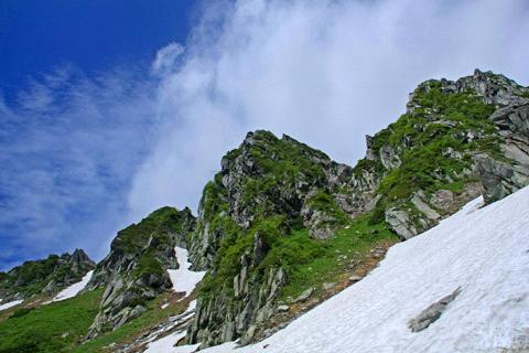 残雪の宝剣岳