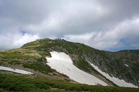 浄土乗越からの中岳