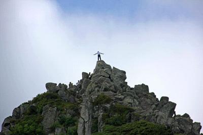 宝剣岳頂上