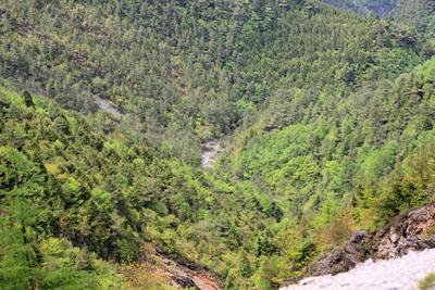 銅山峰から見下ろす寛永谷