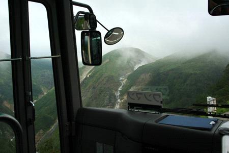 立山高原バスからのソーメン滝