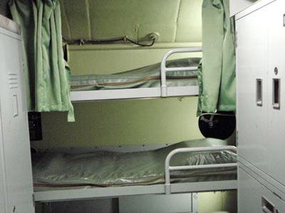 潜水艦寝室