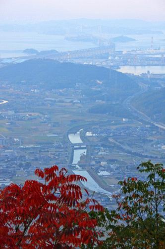 讃岐富士からの瀬戸大橋