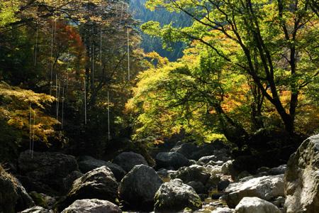 秋の小田深山渓谷