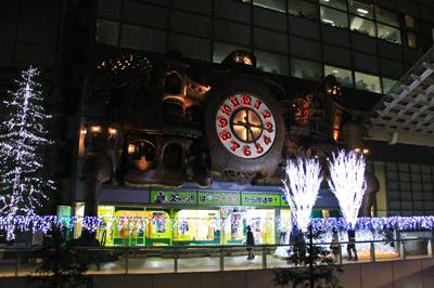 夜の日テレ大時計