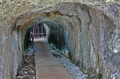 父島大神山神社の要塞跡