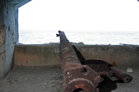 コペペ海岸の大砲