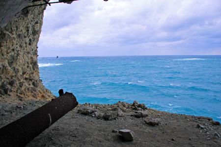 コペペ海岸の砲台