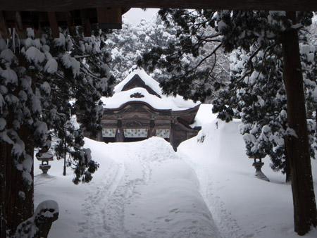 雪の大神山神社奥宮