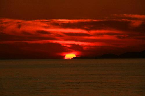 五色姫海浜公園のサンセット