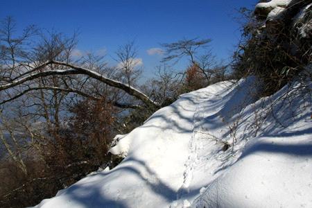 雪の皿ヶ嶺登山道