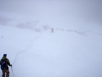 雪の大山元谷